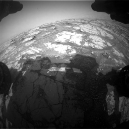 Nasa's Mars rover Curiosity acquired this image using its Front Hazard Avoidance Camera (Front Hazcam) on Sol 2793, at drive 1638, site number 80