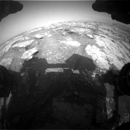 Nasa's Mars rover Curiosity acquired this image using its Front Hazard Avoidance Camera (Front Hazcam) on Sol 2793, at drive 1650, site number 80