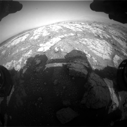 Nasa's Mars rover Curiosity acquired this image using its Front Hazard Avoidance Camera (Front Hazcam) on Sol 2793, at drive 1662, site number 80