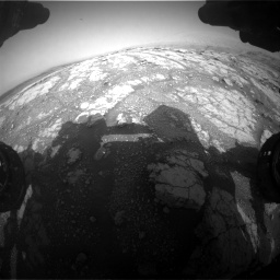 Nasa's Mars rover Curiosity acquired this image using its Front Hazard Avoidance Camera (Front Hazcam) on Sol 2793, at drive 1668, site number 80