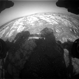 Nasa's Mars rover Curiosity acquired this image using its Front Hazard Avoidance Camera (Front Hazcam) on Sol 2793, at drive 1674, site number 80