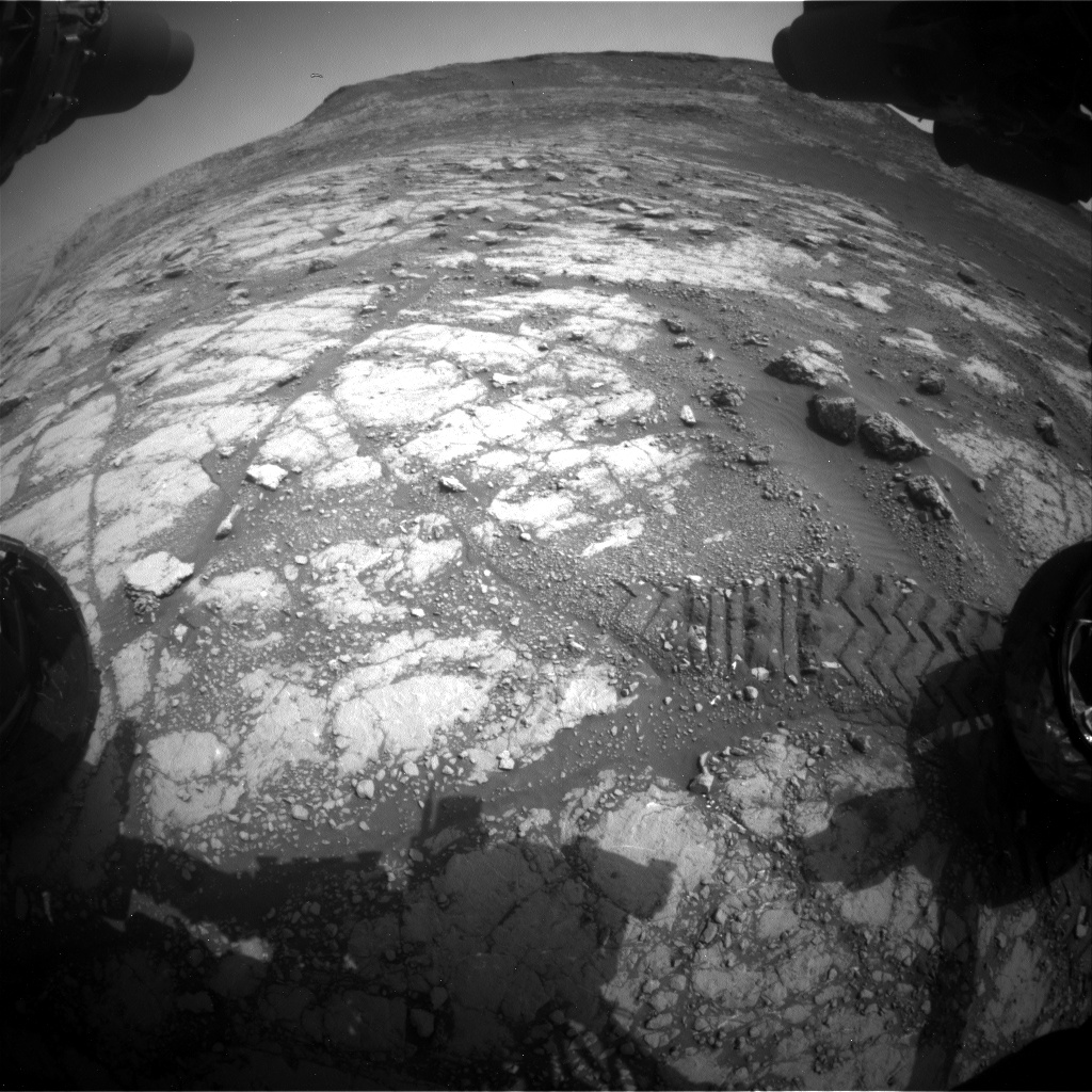 Nasa's Mars rover Curiosity acquired this image using its Front Hazard Avoidance Camera (Front Hazcam) on Sol 2793, at drive 1708, site number 80