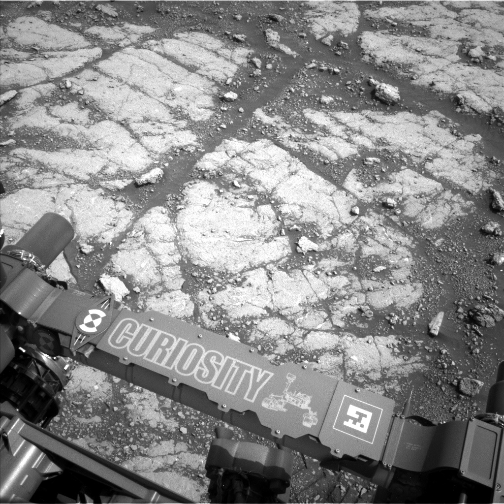 Nasa's Mars rover Curiosity acquired this image using its Left Navigation Camera on Sol 2793, at drive 1708, site number 80