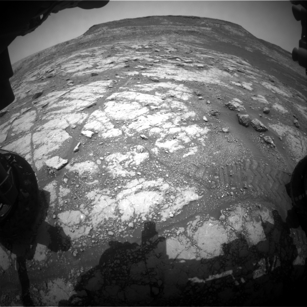 Nasa's Mars rover Curiosity acquired this image using its Front Hazard Avoidance Camera (Front Hazcam) on Sol 2794, at drive 1708, site number 80