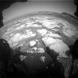 Nasa's Mars rover Curiosity acquired this image using its Front Hazard Avoidance Camera (Front Hazcam) on Sol 2795, at drive 1798, site number 80