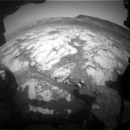Nasa's Mars rover Curiosity acquired this image using its Front Hazard Avoidance Camera (Front Hazcam) on Sol 2795, at drive 1810, site number 80