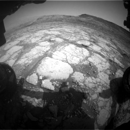 Nasa's Mars rover Curiosity acquired this image using its Front Hazard Avoidance Camera (Front Hazcam) on Sol 2795, at drive 1876, site number 80
