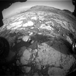 Nasa's Mars rover Curiosity acquired this image using its Front Hazard Avoidance Camera (Front Hazcam) on Sol 2795, at drive 2018, site number 80
