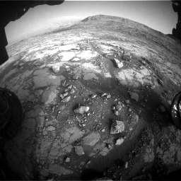 Nasa's Mars rover Curiosity acquired this image using its Front Hazard Avoidance Camera (Front Hazcam) on Sol 2795, at drive 2066, site number 80