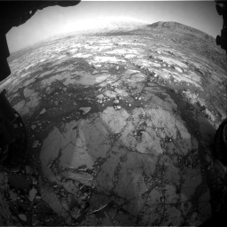 Nasa's Mars rover Curiosity acquired this image using its Front Hazard Avoidance Camera (Front Hazcam) on Sol 2795, at drive 2090, site number 80