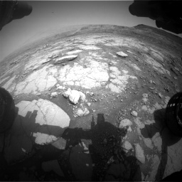 Nasa's Mars rover Curiosity acquired this image using its Front Hazard Avoidance Camera (Front Hazcam) on Sol 2795, at drive 1786, site number 80