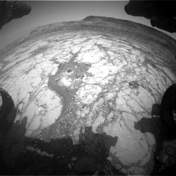 Nasa's Mars rover Curiosity acquired this image using its Front Hazard Avoidance Camera (Front Hazcam) on Sol 2795, at drive 1822, site number 80