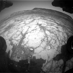 Nasa's Mars rover Curiosity acquired this image using its Front Hazard Avoidance Camera (Front Hazcam) on Sol 2795, at drive 1834, site number 80