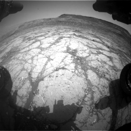 Nasa's Mars rover Curiosity acquired this image using its Front Hazard Avoidance Camera (Front Hazcam) on Sol 2795, at drive 1840, site number 80