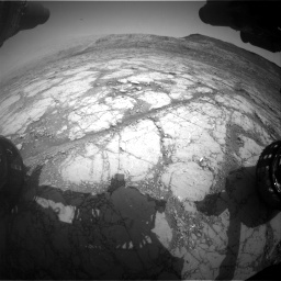 Nasa's Mars rover Curiosity acquired this image using its Front Hazard Avoidance Camera (Front Hazcam) on Sol 2795, at drive 1858, site number 80