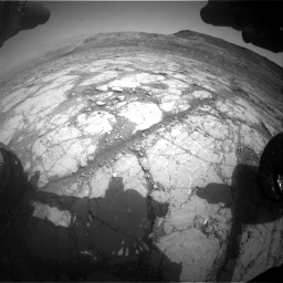 Nasa's Mars rover Curiosity acquired this image using its Front Hazard Avoidance Camera (Front Hazcam) on Sol 2795, at drive 1864, site number 80