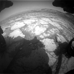 Nasa's Mars rover Curiosity acquired this image using its Front Hazard Avoidance Camera (Front Hazcam) on Sol 2795, at drive 1882, site number 80