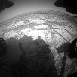 Nasa's Mars rover Curiosity acquired this image using its Front Hazard Avoidance Camera (Front Hazcam) on Sol 2795, at drive 1888, site number 80
