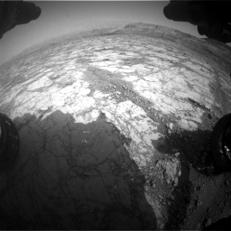 Nasa's Mars rover Curiosity acquired this image using its Front Hazard Avoidance Camera (Front Hazcam) on Sol 2795, at drive 1906, site number 80