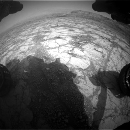 Nasa's Mars rover Curiosity acquired this image using its Front Hazard Avoidance Camera (Front Hazcam) on Sol 2795, at drive 1912, site number 80