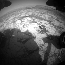 Nasa's Mars rover Curiosity acquired this image using its Front Hazard Avoidance Camera (Front Hazcam) on Sol 2795, at drive 1924, site number 80