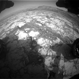 Nasa's Mars rover Curiosity acquired this image using its Front Hazard Avoidance Camera (Front Hazcam) on Sol 2795, at drive 1936, site number 80