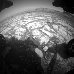 Nasa's Mars rover Curiosity acquired this image using its Front Hazard Avoidance Camera (Front Hazcam) on Sol 2795, at drive 1942, site number 80