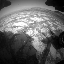 Nasa's Mars rover Curiosity acquired this image using its Front Hazard Avoidance Camera (Front Hazcam) on Sol 2795, at drive 1948, site number 80