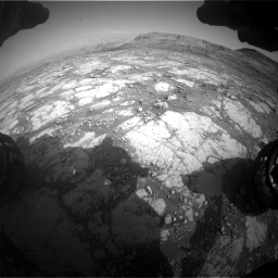Nasa's Mars rover Curiosity acquired this image using its Front Hazard Avoidance Camera (Front Hazcam) on Sol 2795, at drive 1954, site number 80