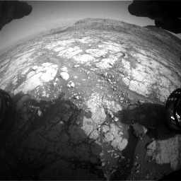 Nasa's Mars rover Curiosity acquired this image using its Front Hazard Avoidance Camera (Front Hazcam) on Sol 2795, at drive 1966, site number 80