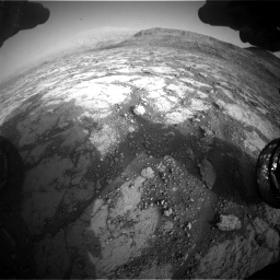 Nasa's Mars rover Curiosity acquired this image using its Front Hazard Avoidance Camera (Front Hazcam) on Sol 2795, at drive 2000, site number 80