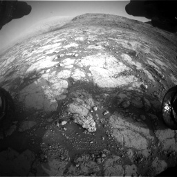 Nasa's Mars rover Curiosity acquired this image using its Front Hazard Avoidance Camera (Front Hazcam) on Sol 2795, at drive 2012, site number 80