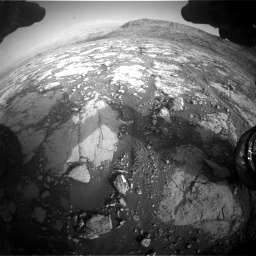 Nasa's Mars rover Curiosity acquired this image using its Front Hazard Avoidance Camera (Front Hazcam) on Sol 2795, at drive 2024, site number 80