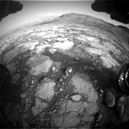 Nasa's Mars rover Curiosity acquired this image using its Front Hazard Avoidance Camera (Front Hazcam) on Sol 2795, at drive 2054, site number 80