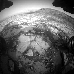 Nasa's Mars rover Curiosity acquired this image using its Front Hazard Avoidance Camera (Front Hazcam) on Sol 2795, at drive 2072, site number 80