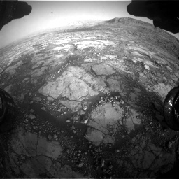 Nasa's Mars rover Curiosity acquired this image using its Front Hazard Avoidance Camera (Front Hazcam) on Sol 2795, at drive 2102, site number 80