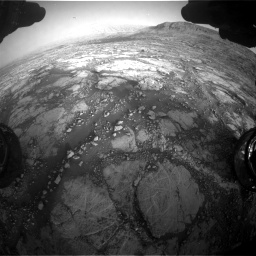 Nasa's Mars rover Curiosity acquired this image using its Front Hazard Avoidance Camera (Front Hazcam) on Sol 2795, at drive 2108, site number 80