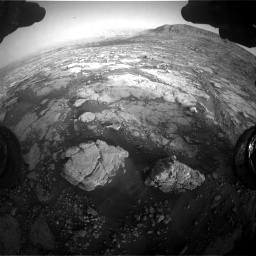 Nasa's Mars rover Curiosity acquired this image using its Front Hazard Avoidance Camera (Front Hazcam) on Sol 2795, at drive 2114, site number 80