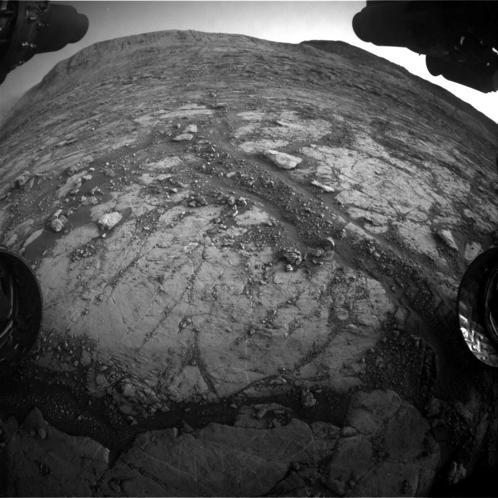 Nasa's Mars rover Curiosity acquired this image using its Front Hazard Avoidance Camera (Front Hazcam) on Sol 2795, at drive 2136, site number 80