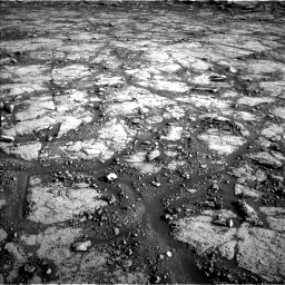 Nasa's Mars rover Curiosity acquired this image using its Left Navigation Camera on Sol 2795, at drive 2024, site number 80