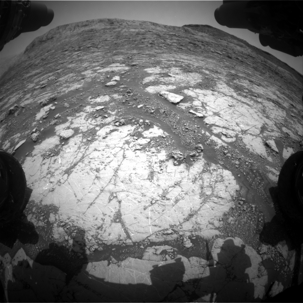 Nasa's Mars rover Curiosity acquired this image using its Front Hazard Avoidance Camera (Front Hazcam) on Sol 2796, at drive 2136, site number 80