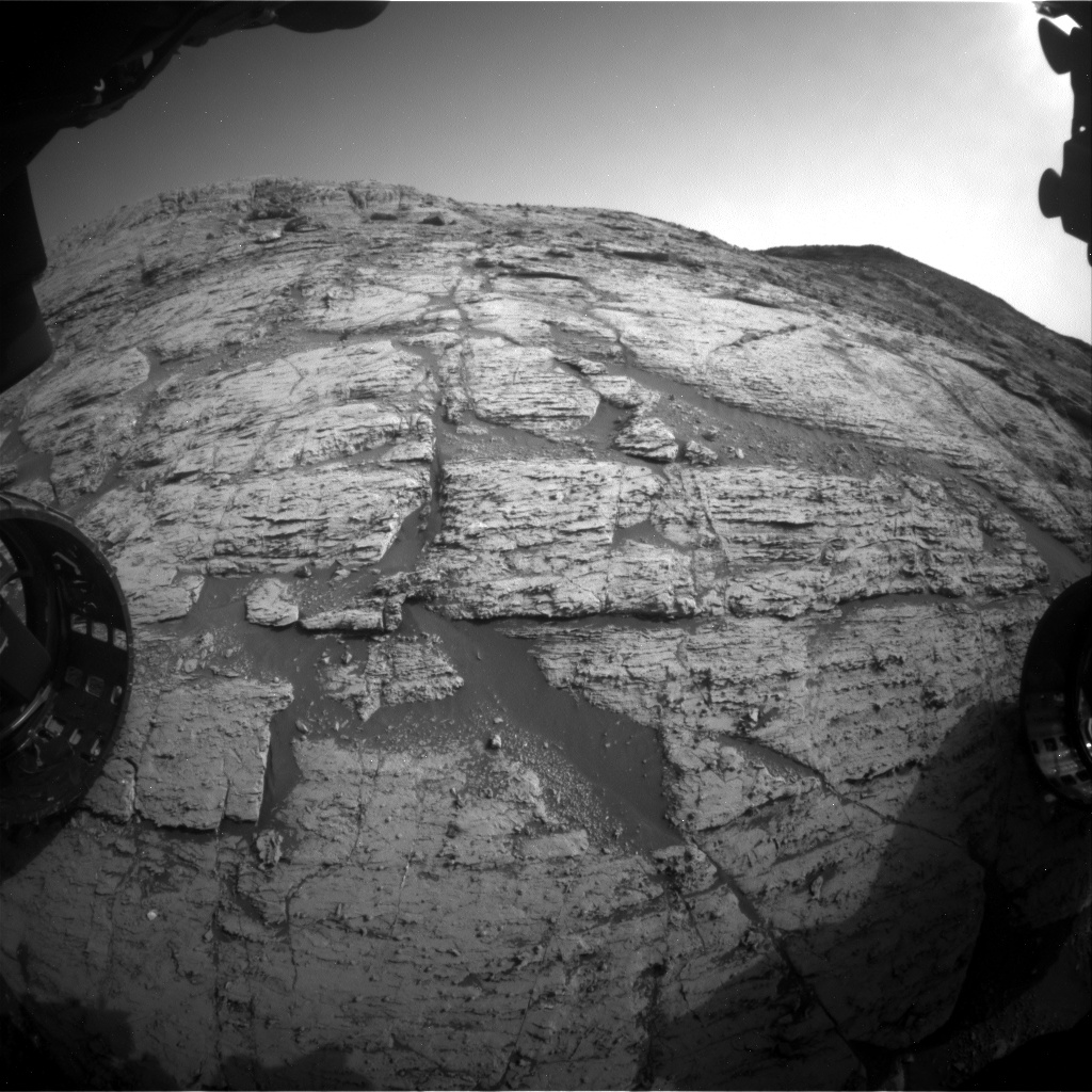 Nasa's Mars rover Curiosity acquired this image using its Front Hazard Avoidance Camera (Front Hazcam) on Sol 2797, at drive 2388, site number 80