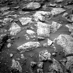 Nasa's Mars rover Curiosity acquired this image using its Left Navigation Camera on Sol 2797, at drive 2376, site number 80