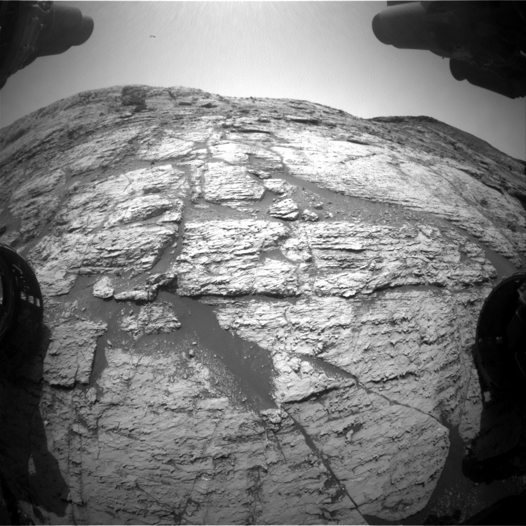 Nasa's Mars rover Curiosity acquired this image using its Front Hazard Avoidance Camera (Front Hazcam) on Sol 2798, at drive 2388, site number 80