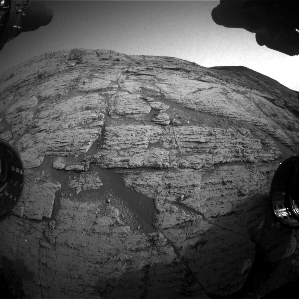 Nasa's Mars rover Curiosity acquired this image using its Front Hazard Avoidance Camera (Front Hazcam) on Sol 2799, at drive 2388, site number 80
