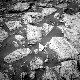 Nasa's Mars rover Curiosity acquired this image using its Left Navigation Camera on Sol 2800, at drive 2394, site number 80