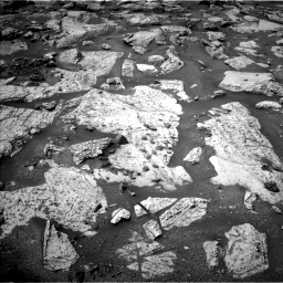 Nasa's Mars rover Curiosity acquired this image using its Left Navigation Camera on Sol 2800, at drive 2418, site number 80