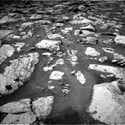 Nasa's Mars rover Curiosity acquired this image using its Left Navigation Camera on Sol 2800, at drive 2442, site number 80