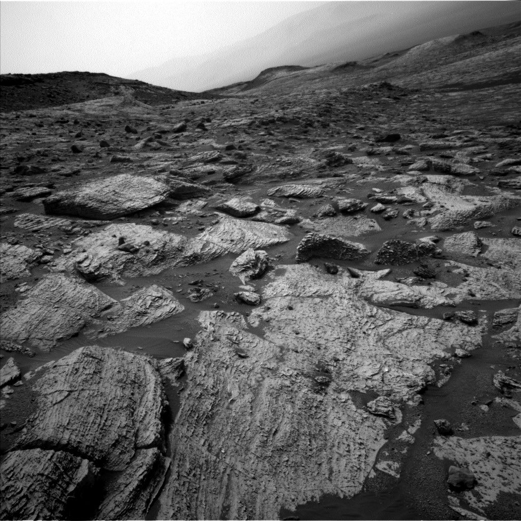 Nasa's Mars rover Curiosity acquired this image using its Left Navigation Camera on Sol 2800, at drive 0, site number 81