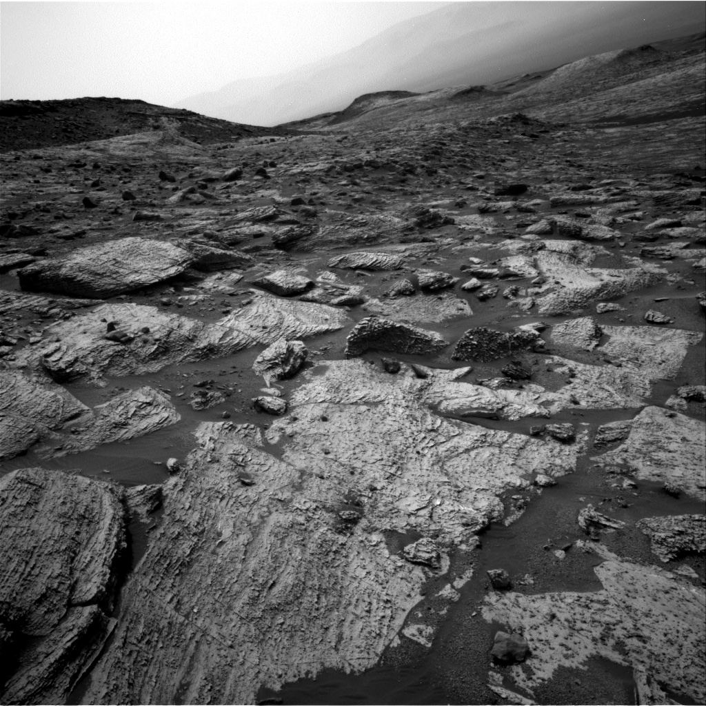 Nasa's Mars rover Curiosity acquired this image using its Right Navigation Camera on Sol 2800, at drive 0, site number 81
